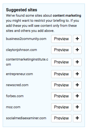 filter suggested domains